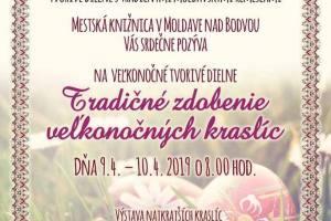 Fond na podporu umenia 2019- Tvorivé dielne s tradičnými moldavskými remeslami